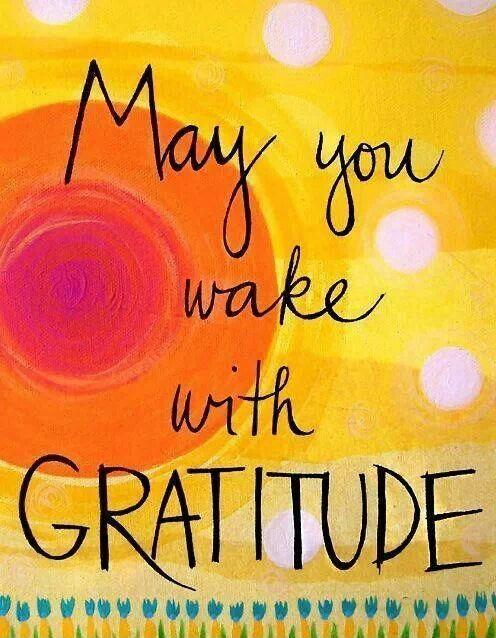 May you wake with gratitude Picture Quote #1