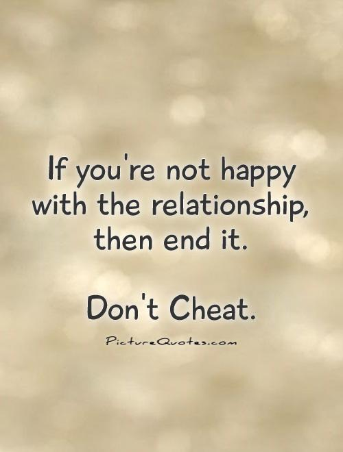 unhappy in relationship cheating behavior