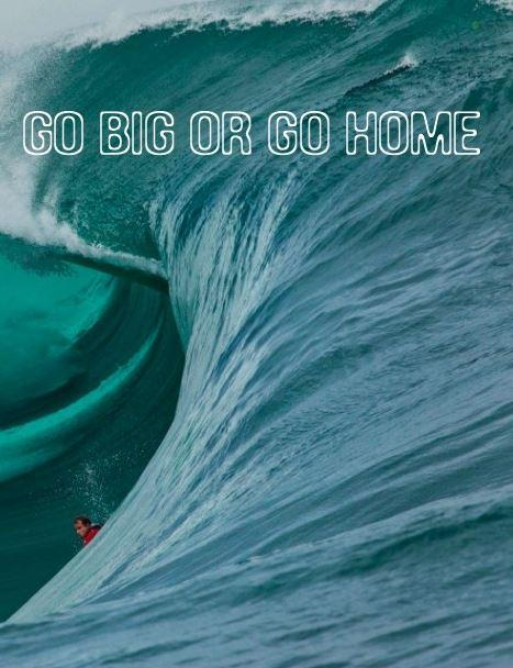 Go big or go home Picture Quote #1