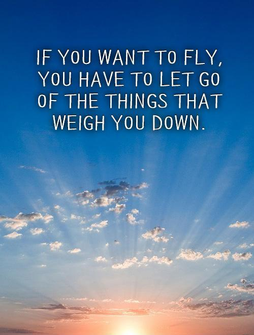 If you want to fly,  you have to let go of the things that weigh you down Picture Quote #1