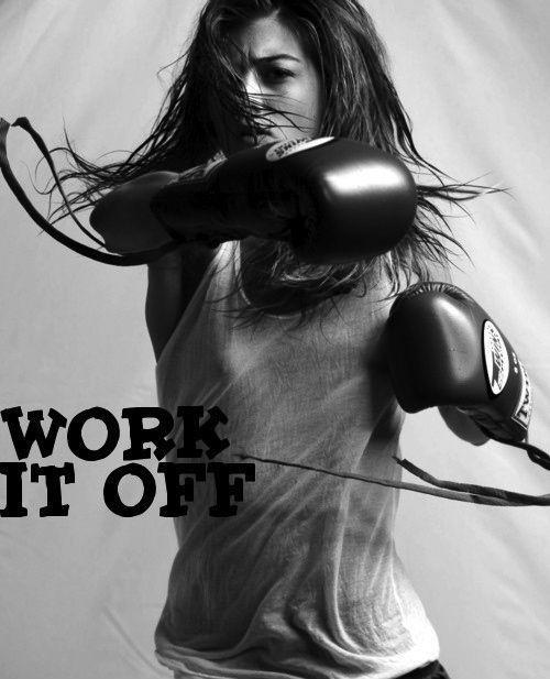 Work it off Picture Quote #1
