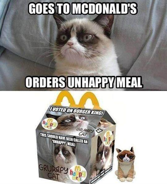 Goes to McDonald's, orders unhappy meal  Picture Quote #1