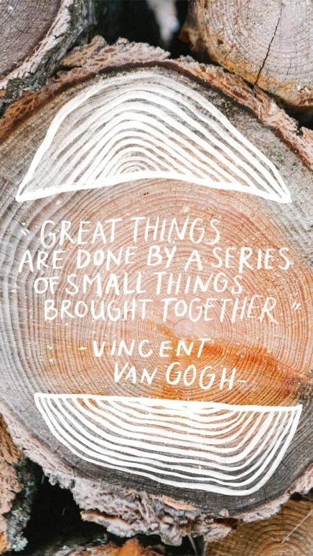Great things are done by a series of small things brought together Picture Quote #2