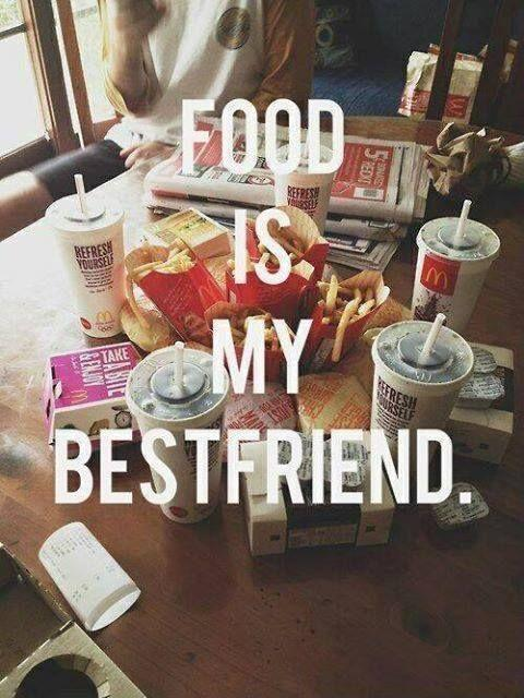 Food is my best friend Picture Quote #1