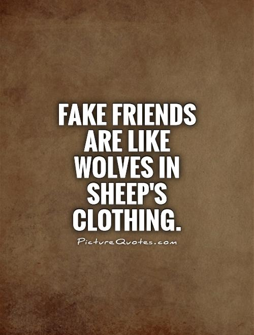 Fake friends are like Wolves in Sheep's Clothing Picture Quote #1