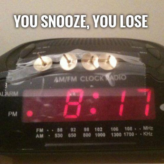 You snooze, you lose Picture Quote #1