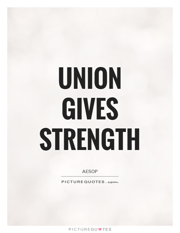Union gives strength Picture Quote #1