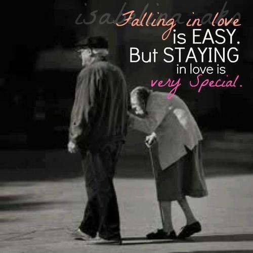 Falling in love is easy. But staying in love is very special Picture Quote #1