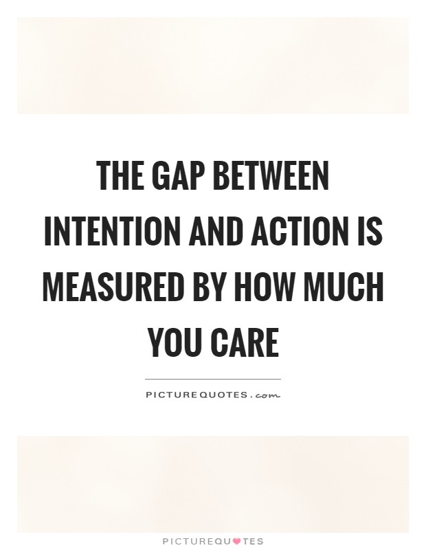 relationship between intention and action