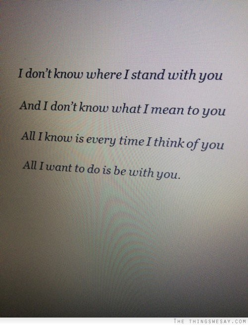 All I Want Is You Quote For Him 3 Picture Quote #1