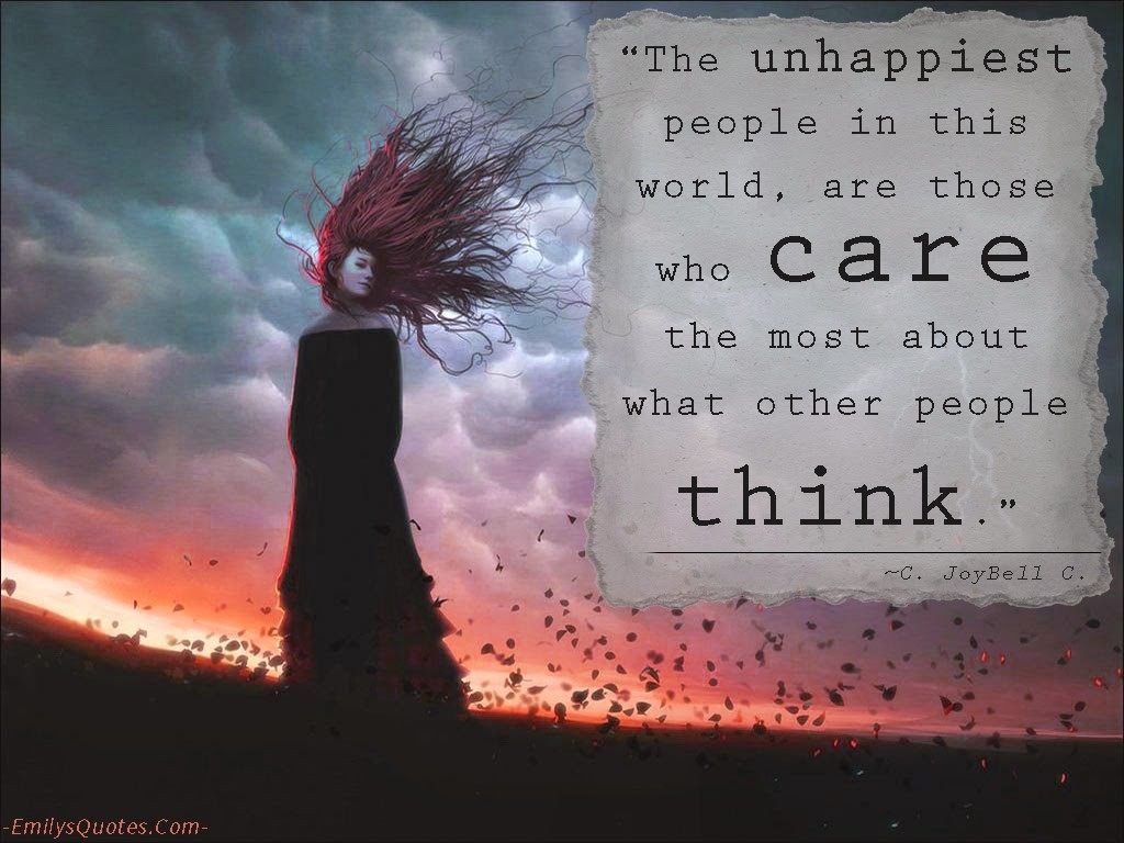 Stop Caring What People Think Quote 5 Picture Quote #1