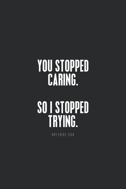 Stop Caring Quote 2 Picture Quote #1
