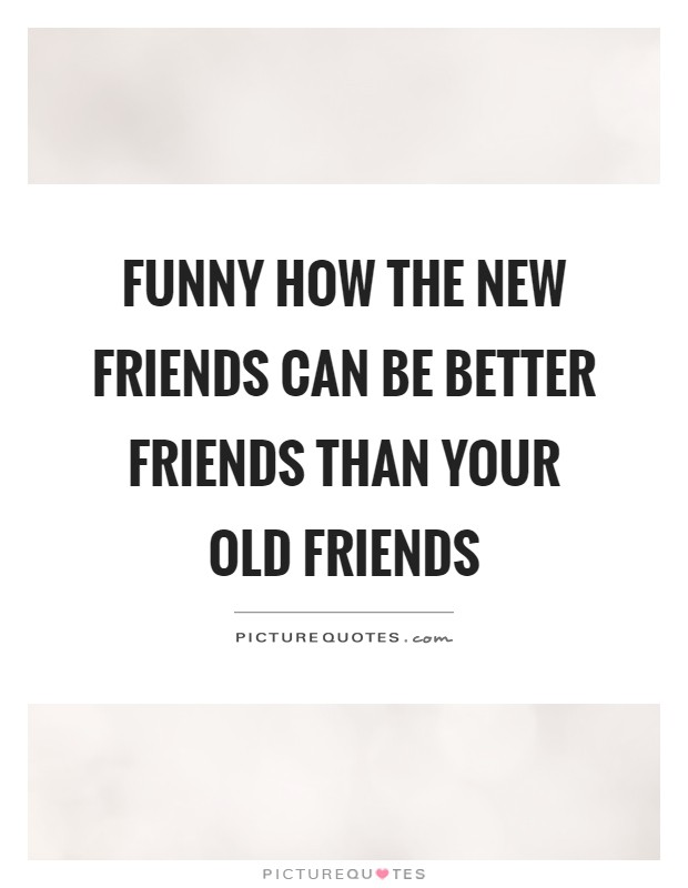 Funny how the new friends can be better friends than your old friends Picture Quote #1