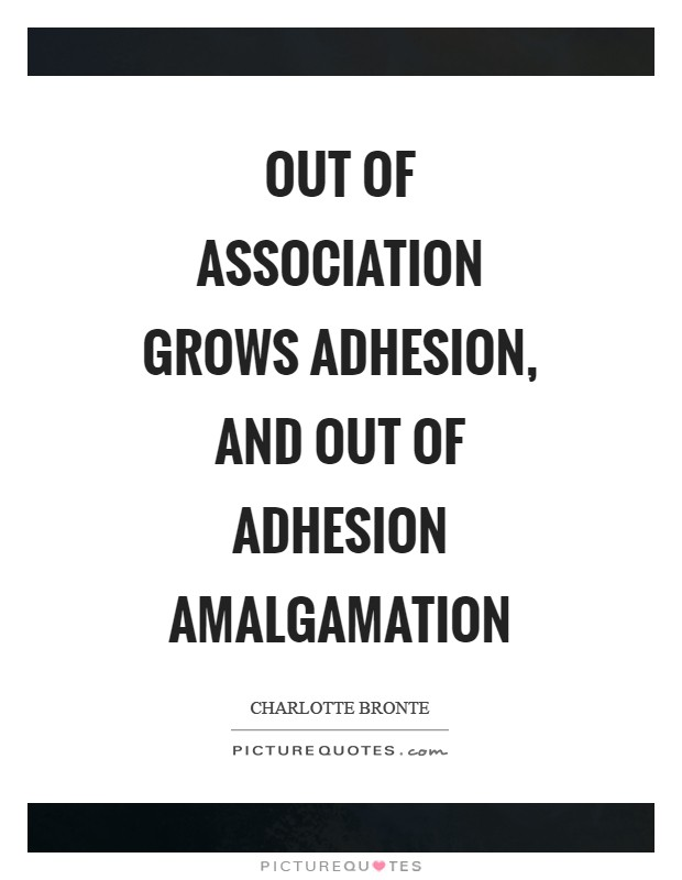 Out of association grows adhesion, and out of adhesion amalgamation Picture Quote #1