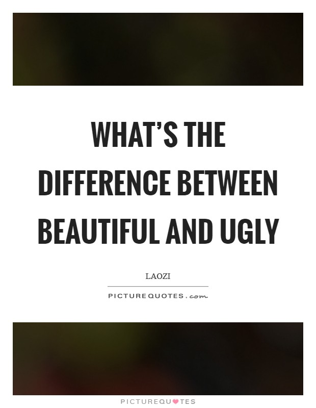 What's the difference between beautiful and ugly Picture Quote #1
