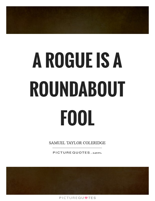 A rogue is a roundabout fool Picture Quote #1