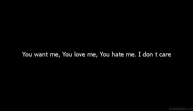 I Dont Care If You Hate Me Quote 3 Picture Quote #1