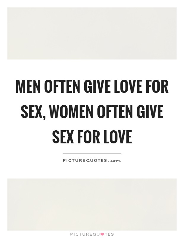 men love and sex