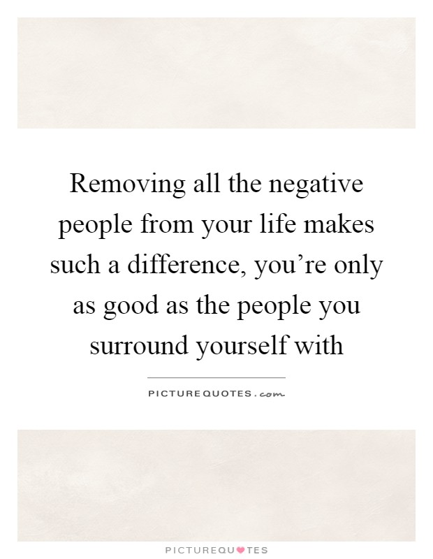 Removing Negative People Quotes: Surround Picture