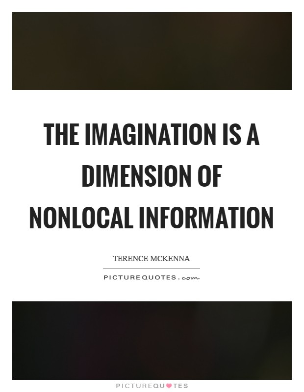 The imagination is a dimension of nonlocal information Picture Quote #1