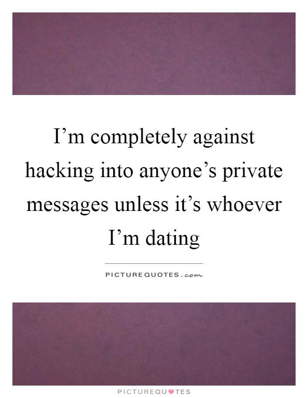 Anti dating quotes