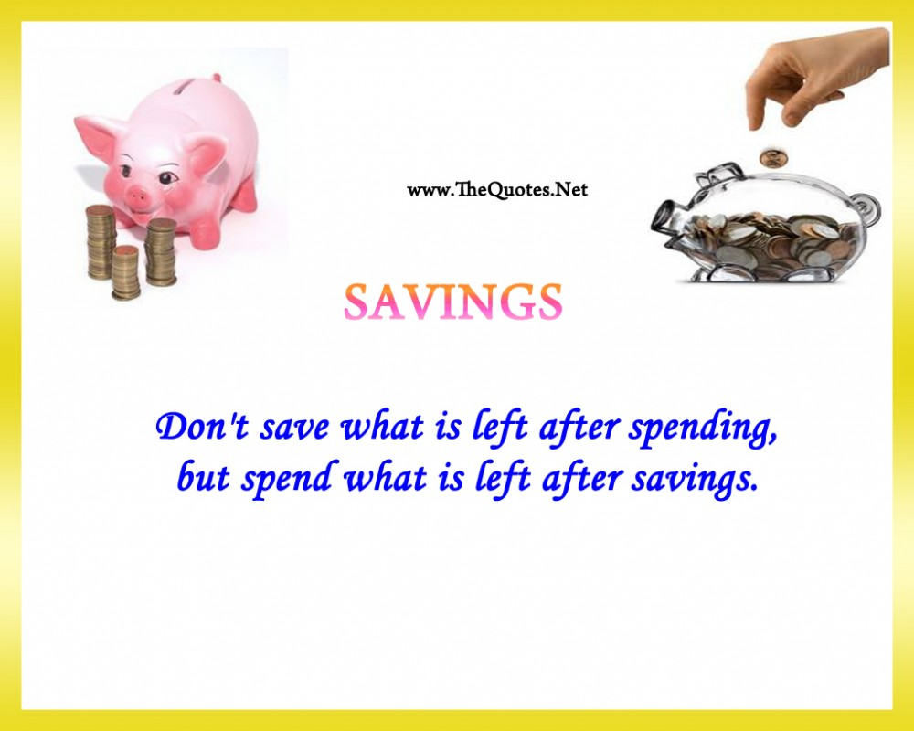 Saving Money Quote 9 Picture Quote #1