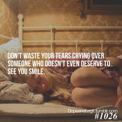 Dont Cry Over Him Quote 4 Picture Quote #1