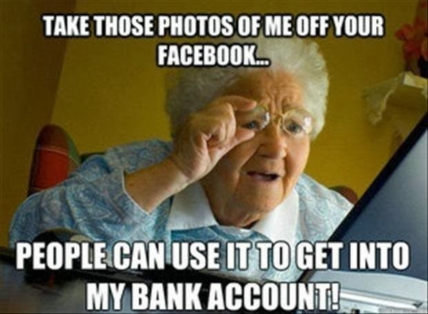 Old People Facebook Quote 1 Picture Quote #1