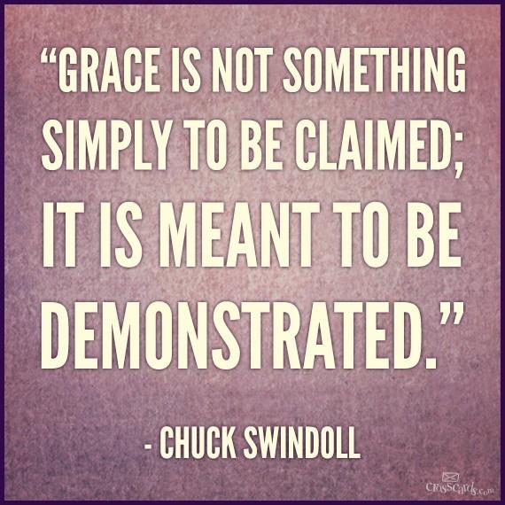 Chuck Swindoll Quote On Grace 2 Picture Quote #1