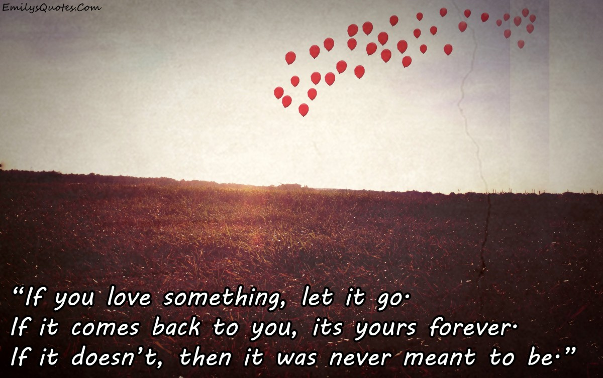 Letting Go Of Love Quote 1 Picture Quote #1