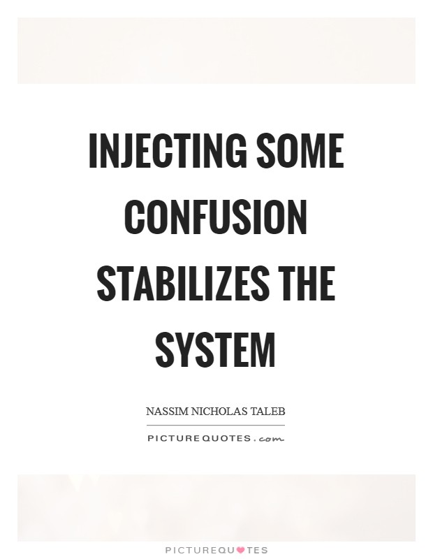 Injecting some confusion stabilizes the system Picture Quote #1