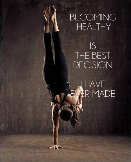 Becoming healthy is the best decision I have ever made Picture Quote #1