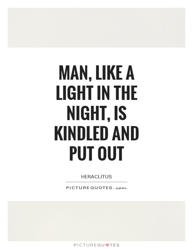 Man, like a light in the night, is kindled and put out Picture Quote #1