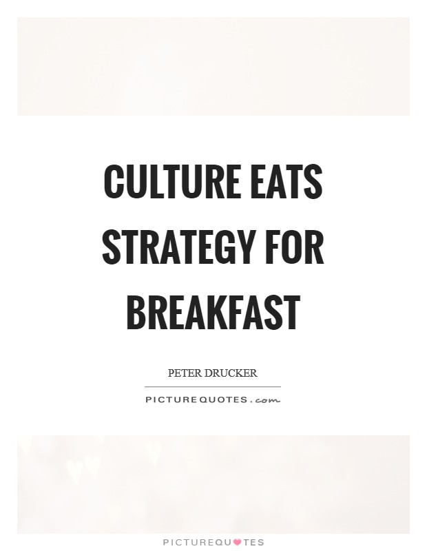 Culture eats strategy for breakfast Picture Quote #1