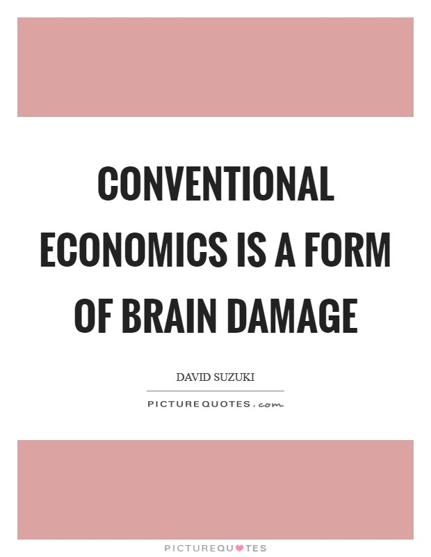 Conventional economics is a form of brain damage Picture Quote #1
