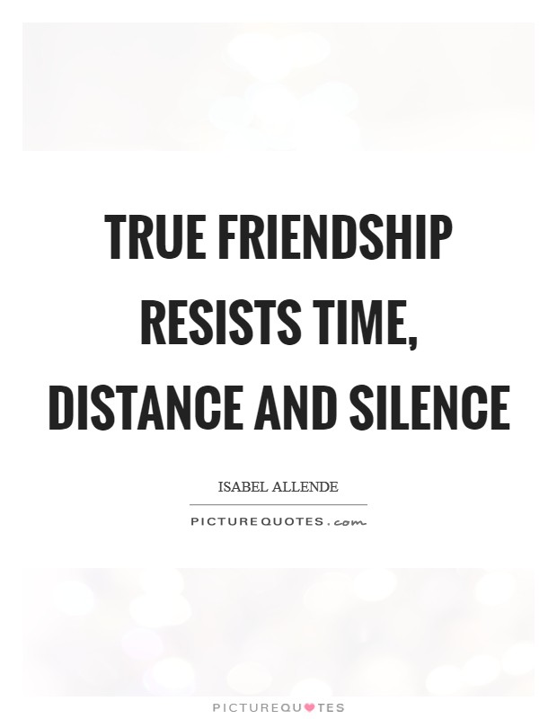 True friendship resists time, distance and silence | Picture ...