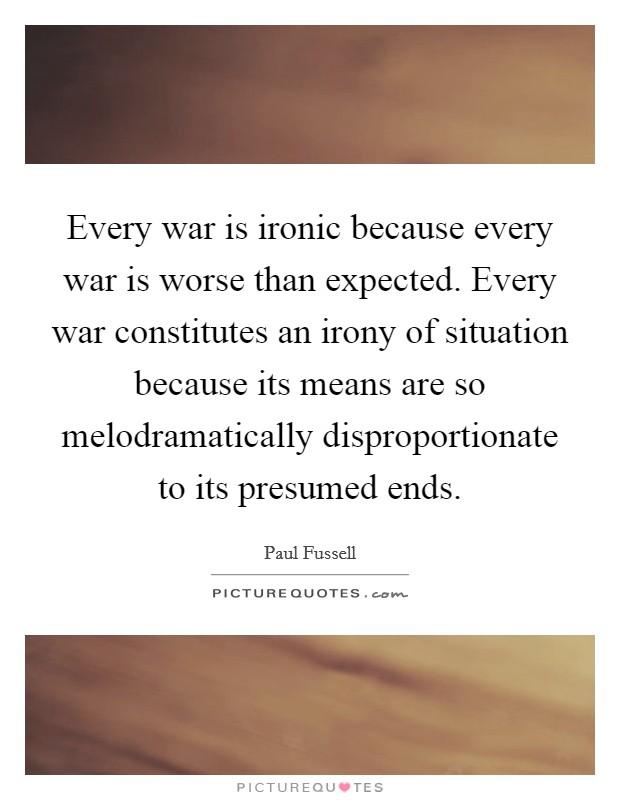 Ironic war