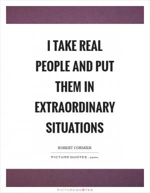 Superficial people find the extraordinary fascinating, and ...