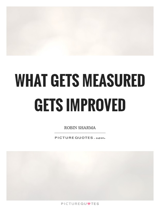 What gets measured gets improved Picture Quote #1
