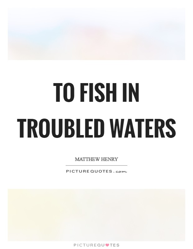 To fish in troubled waters Picture Quote #1