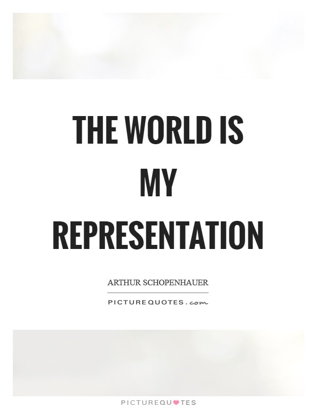 The world is my representation Picture Quote #1