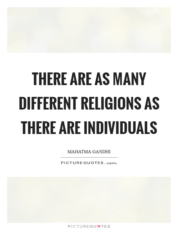 There are as many different religions as there are individuals Picture Quote #1