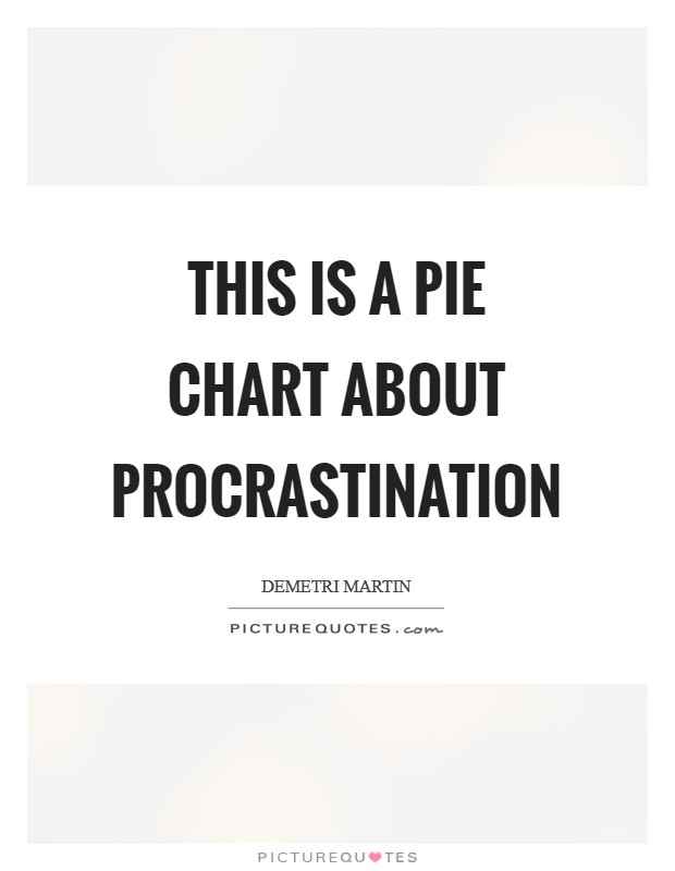 This is a pie chart about procrastination Picture Quote #1