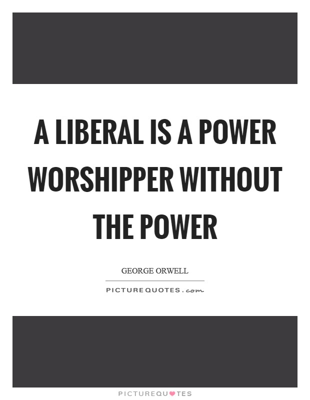 A liberal is a power worshipper without the power Picture Quote #1