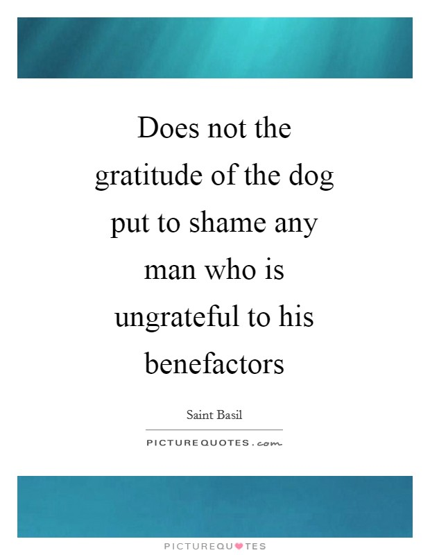 Does not the gratitude of the dog put to shame any man who is ungrateful to his benefactors Picture Quote #1