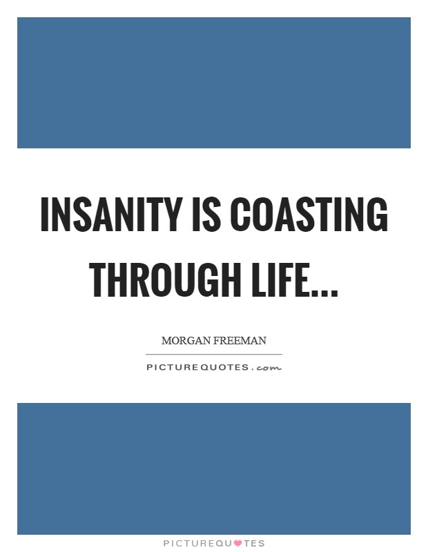 Insanity is coasting through life Picture Quote #1