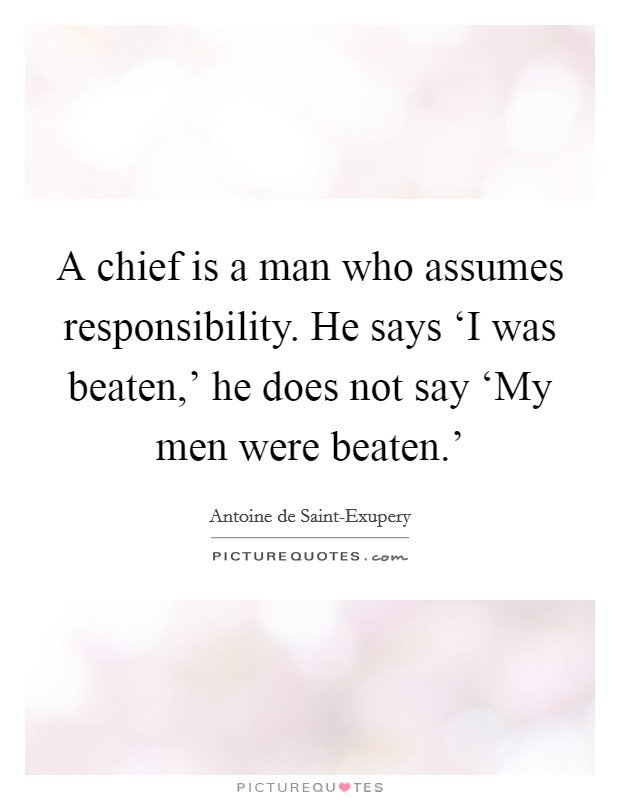 Responsibility does not rest on the