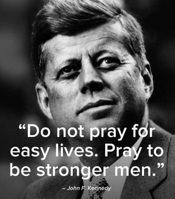 Do not pray for easy lives. Pray to be stronger men Picture Quote #1