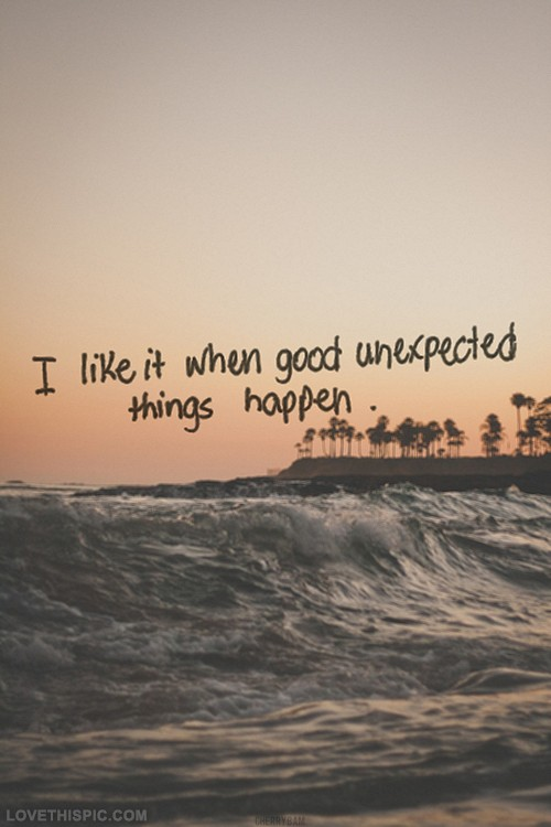 I Like Surprises Quote 1 Picture Quote #1