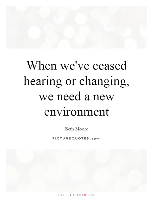 How To Adapt To A New Environment?